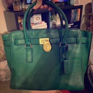 Michael Kors Kelly green handbag